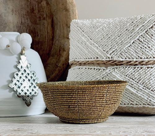 Beaded Boxes - White