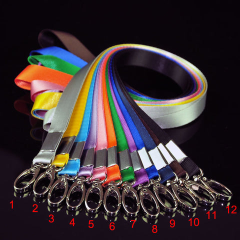 1.5 cm wide High Quality Smile Face ID Card Badge Holder with Lanyard 12 colors to choose