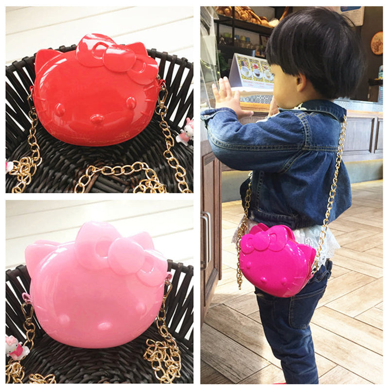2016 New candy silica gel girls Bags lovely cat children girls