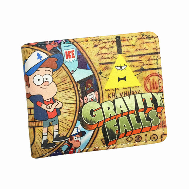 Gravity Falls Mysteries Bill Cipher Wallets Cute Cartoon Wallet For