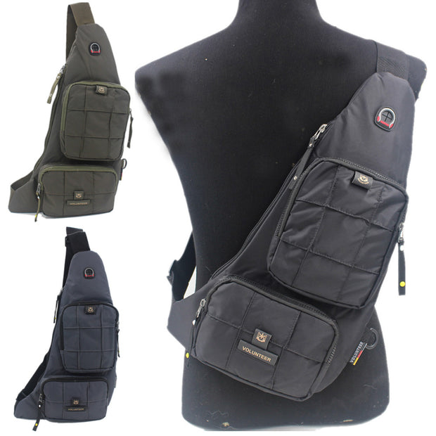 Waterproof Oxford Men Sling Shoulder Messenger Cross Body Bag Military