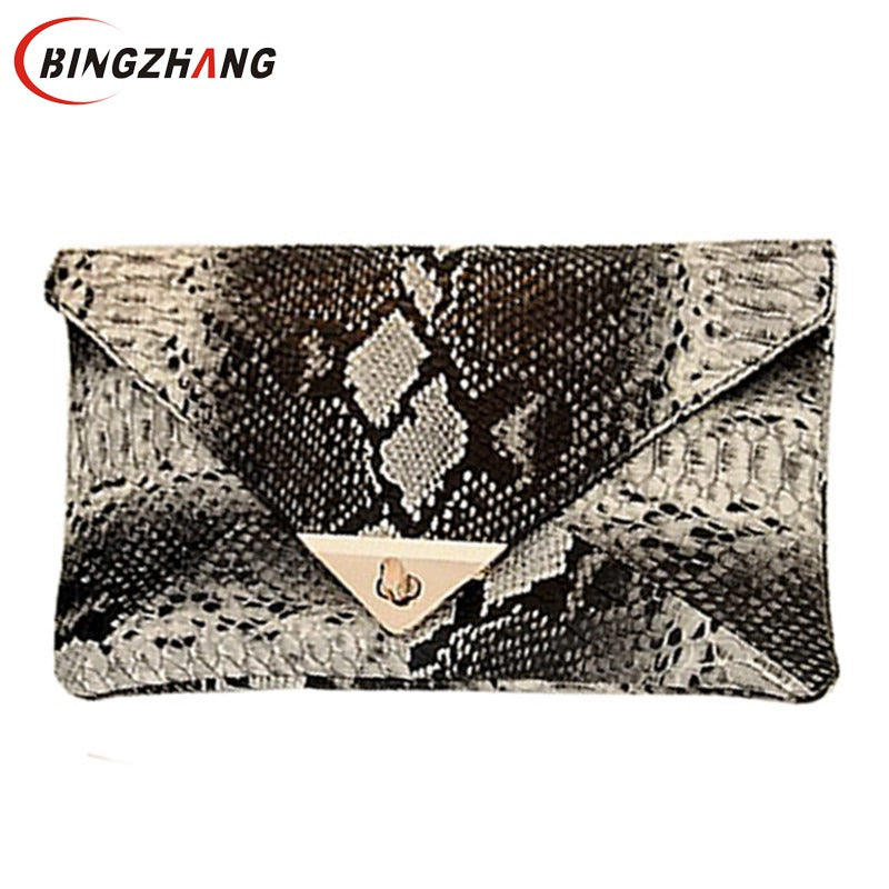 2017 Evening Bag New Fashion Women's Synthetic Leather Bag Snake