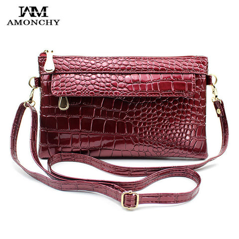 2016 New Alligator Women's Clutches Crocodile Women Messenger Bags Brand Ladies Clutch Crossbody Shoulder Bags Party Evening Bag