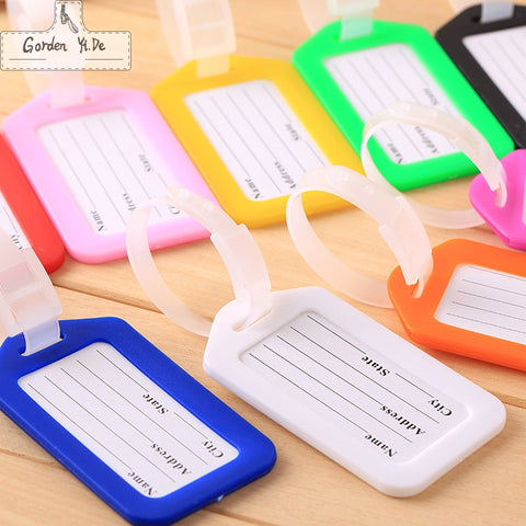 10  pieces Travel Accessories Luggage Tag Creative Solid Hard PVC Plastic Aircraft Baggage Claim Tag