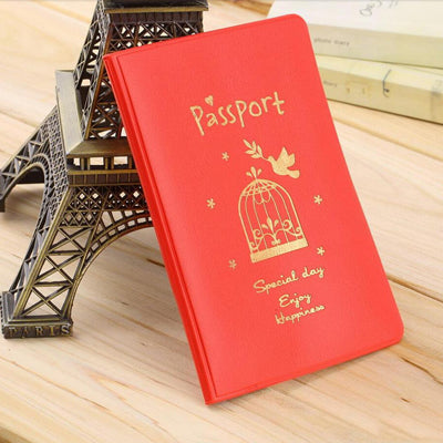 2016 New Fashion Passport Cover Documents Bag Utility PU Leather
