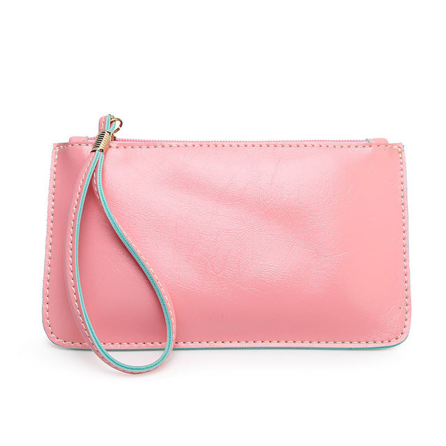 2016 Summer New Women Day Clutches Wristlets Fashion Candy Color Phone