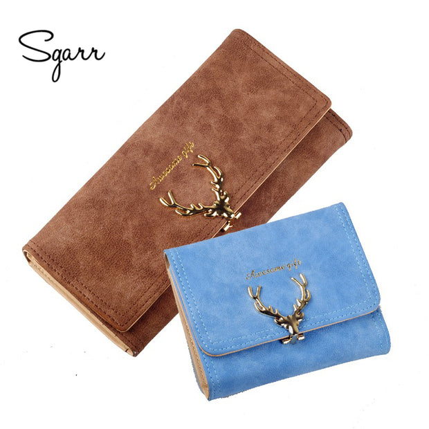 Latest Christmas Deer Women PU Leather Wallet VintageTri-Folds