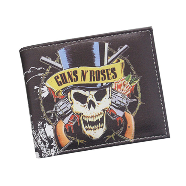 Popular Metallica Music Band Ultra-thin Wallet guns n 'roses