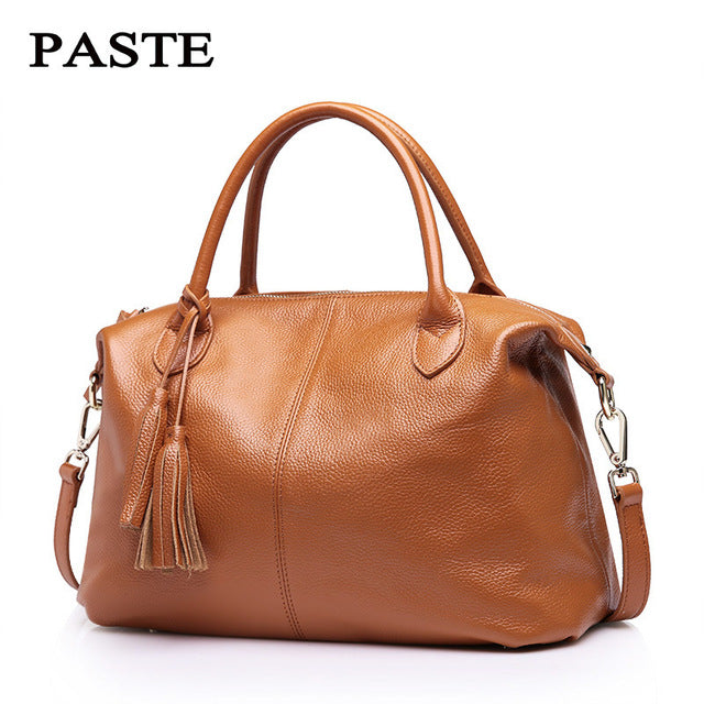 100% Nature Cow Genuine Leather Women Tote First Layer Cow Female