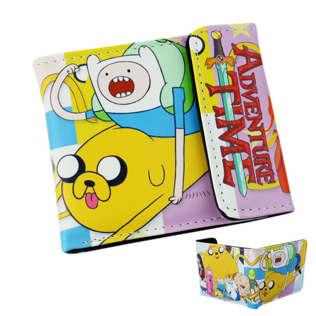 Anime Cartoon Wallet Doctor Who/Adventure Time/Jack/Zelda and Minions