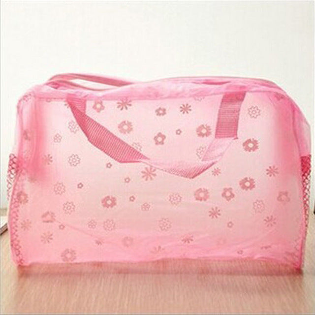 2015 New Arrival Cute Women Travel Makeup Bag Flower Printed Women