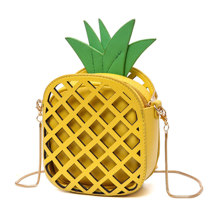 2017 Brand Leather Cute Handbag for Women Lovely Pineapple Girl