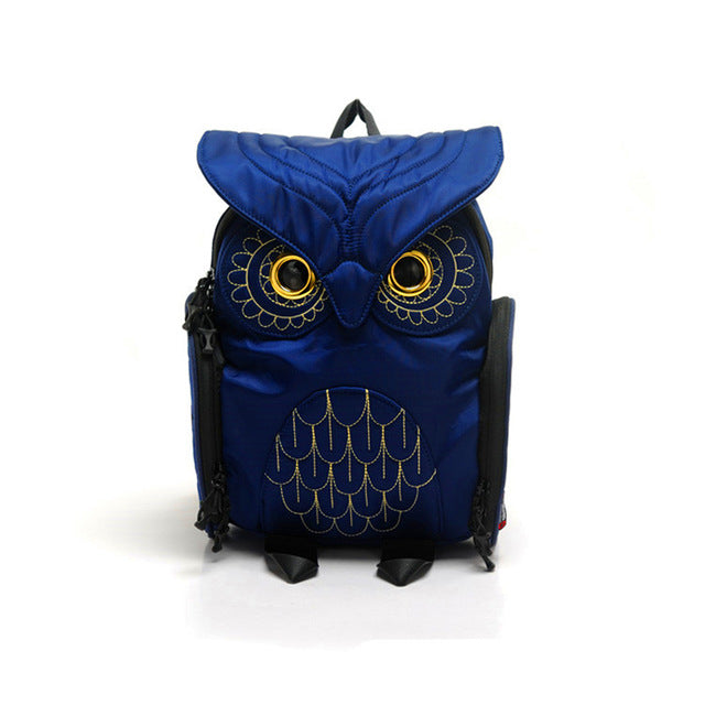 Fashion Cute Owl Backpacks Women Cartoon School Bags for Teenagers