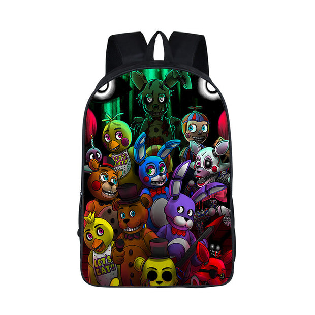 Five Nights at Freddy Backpack Women Men FNAF School Bags Teenager