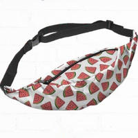 2016 New waist fanny Bag packs 3D colorful fast food Printed cute
