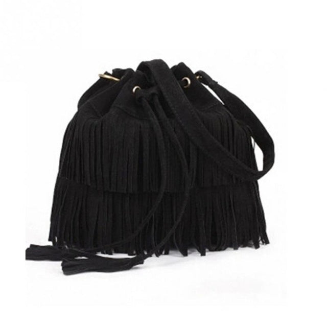 2016 Retro Faux Suede Fringe Women Bag Messenger Bags New Handbag