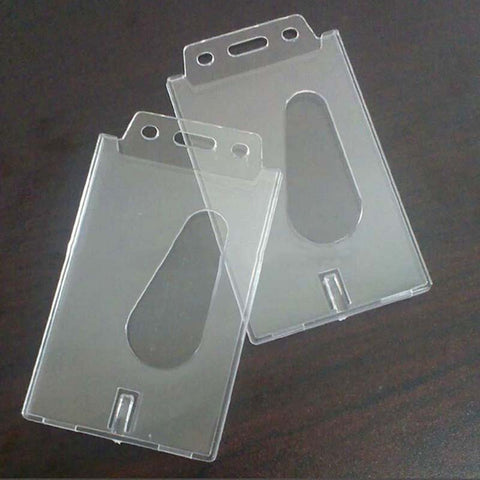 1 PCS Transparent Case Clear Vertical Hard Plastic Badge Holder Card ID Credit Holder 100X60X4MM