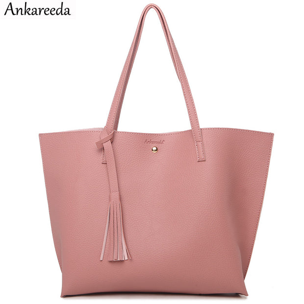 Ankareeda Top-Handle Bags Women's Soft Leather Handbag High Quality