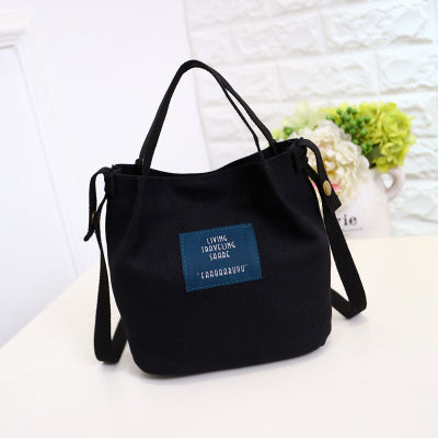2017 Canvas Embroidery Crossbody Shoulder Bags Korean Fashion Designer Women Messenger Bags Ladies Small Beach Tote Handbags