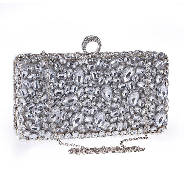 2017 Crystal Evening Bag Beaded Day Clutches Lady Wedding Purse