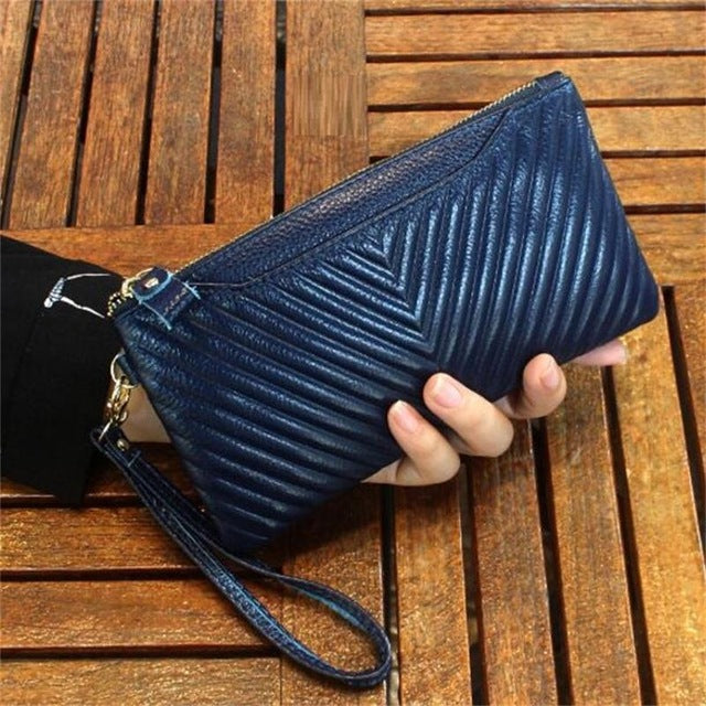 100% Genuine Leather Messenger Bags Famous Brand Women Wallets