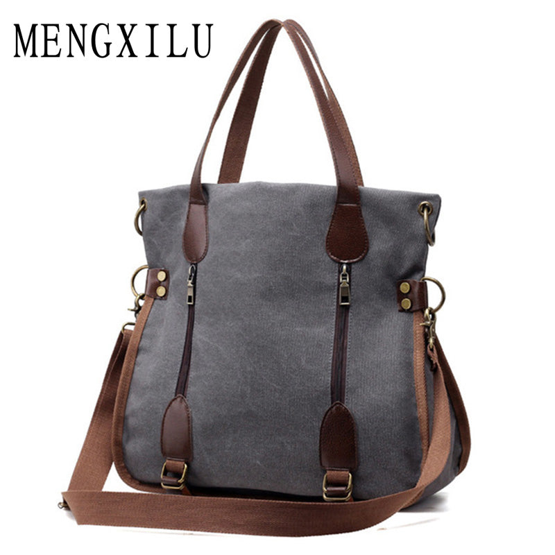 2017 Fashion Big Women Canvas Bag Ladies Shoulder Bags Handbags
