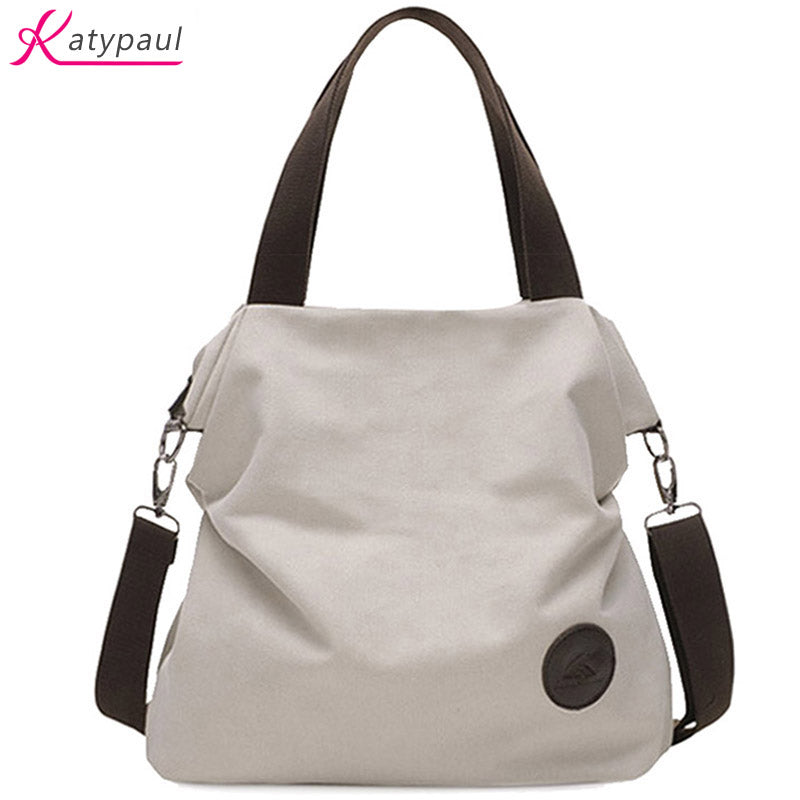 2017 Casual Beach Woman Canvas Bags Women Shoulder Bag Female HandBags