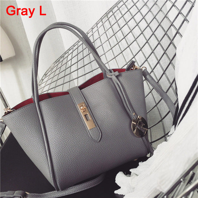 2016 New Fashion Women Messenger Bags PU Leather Handbag Litchistria