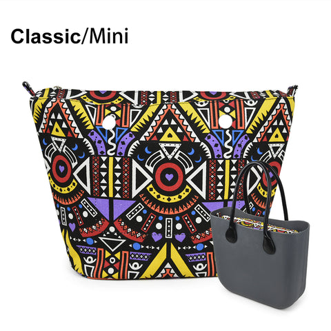 1 Piece Colourful Cute Cartoon Insert Lining Inner Pocket for Classic Mini Obag O Bag Women's Should Bags Totes Handbags
