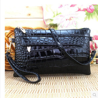2017 Famous Brand Style Crocodile Ladies Handbags Day Clutches