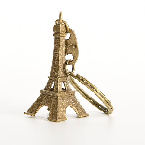 1 PCS Lovely 5cm Bronze Tone Paris Eiffel Tower For Charms Key/Bag/Cell Phone Straps Bag Parts & Accessories