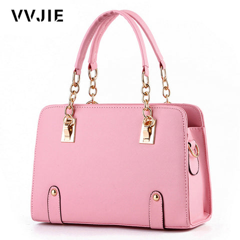 VVJIE Brand New Female Chain Party Handbags Fashion Brand Handbags Womens Satchel Bags Candy Color Leather Lolita Evening Tote