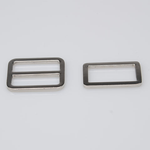 "1"" Silver Triglide Slider & buckle for adjustable straps"