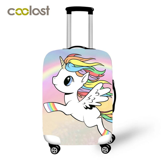 Cartoon Unicorn Travel Luggage Protective Covers Women Cute bagages