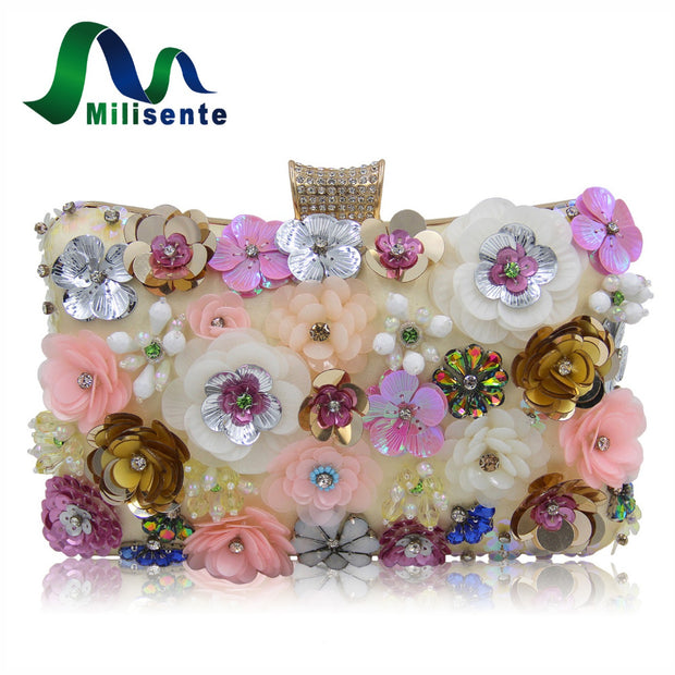 Milisente Women Evening Bags Fashion Ladies Clutch Bag Flower Clutches