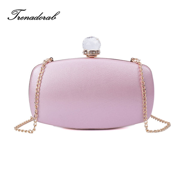 Satin Clutch Evening Bag Diamonds women clutch bags and purses Pink
