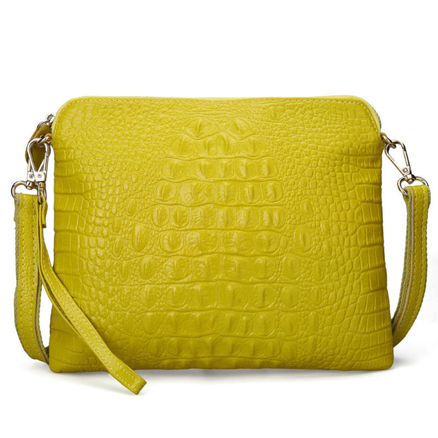 Female Crossbody Bags Crocodile Split Leather Women Messenger Bags Day