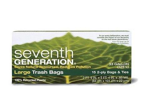 Seventh Generation Trash Bags 33 gallon