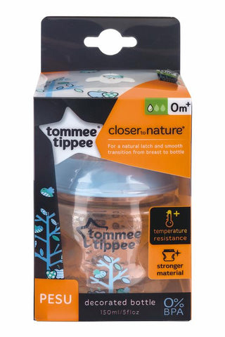 Tommee Tippee 香港 Closer to Nature 150ml PESU 印花奶瓶(藍)