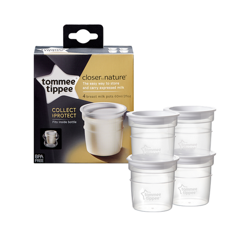 Tommee Tippee HK Sale Milk Storage Pot 4 pcs