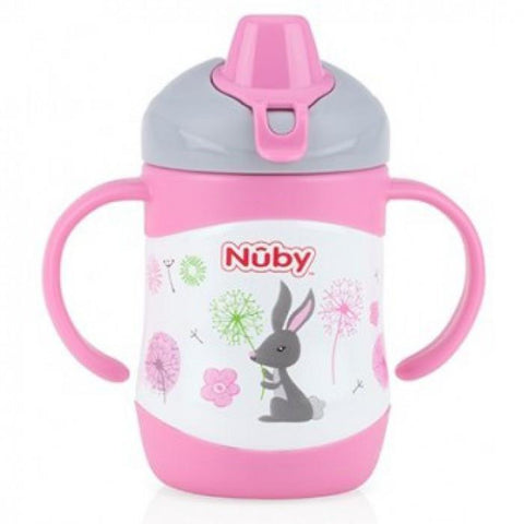 Nuby HK No-Spill Clik-it Steel Insulated Soft Sipper 220ml