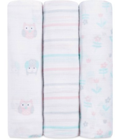 IDEALBABY SWADDLES OWIS 3PK