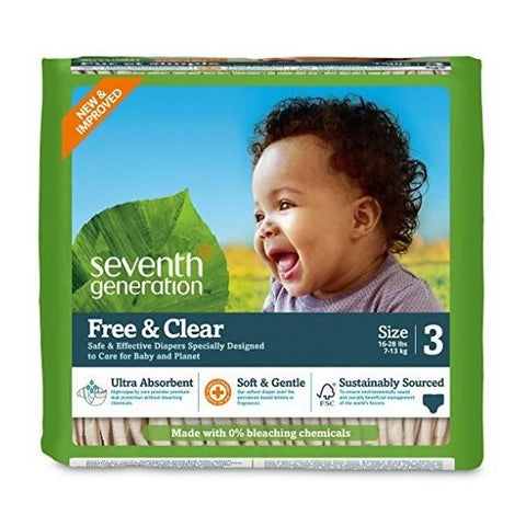 Seventh Generation Diaper Stage 3 for 16-28 lbs