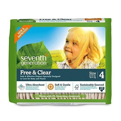Seventh Generation Diaper Stage 4 for 22-37lbs