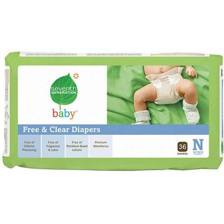 Seventh Generation Newborn Diaper for 10 lbs baby