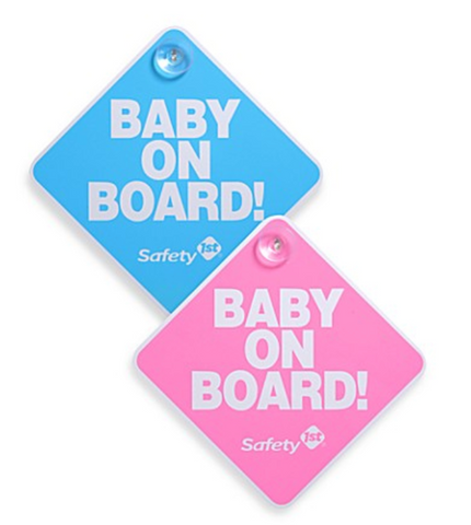 Safety 1st Baby On Board Sign - Blue/Pink-each item