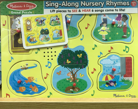 Melissa & Doug HK Sale Sing-Along Nursery Rhymes Sound Puzzle