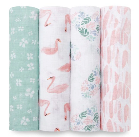Aden + Anais SWADDLE PLUS BRIAR ROSE 4PK