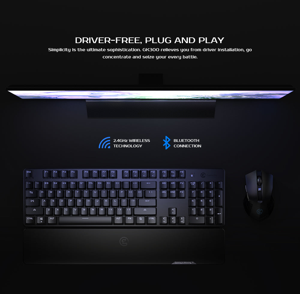 2.4GHz Wireless Keyboard-GameSir GK300