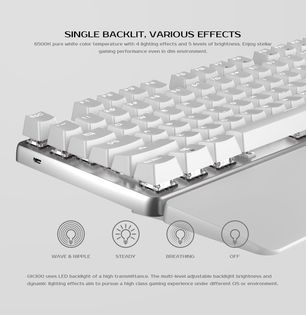 Backlit Wireless Gaming Keyboard for Windows PC